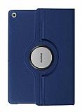 Huawei MediaPad T3 7.0 360 Derece Döner Standlı Lacivert Deri Kılıf