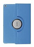 Huawei MediaPad T3 7.0 360 Derece Döner Standlı Mavi Deri Kılıf