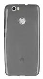 Huawei Nova Ultra İnce Şeffaf Siyah Silikon Kılıf