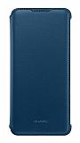 Huawei P Smart 2019 Orjinal Flip Cover Mavi Kılıf