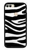 Huawei P Smart Zebra Desenli Siyah Kenarlı Silikon Kılıf