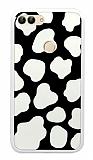 Huawei P Smart İnek Desenli Beyaz Kenarlı Silikon Kılıf