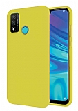 Eiroo Lansman Huawei P Smart 2020 Açık Sarı Silikon Kılıf