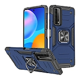Eiroo Kickstand Huawei P Smart 2021 Ultra Koruma Mavi Kılıf
