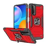 Eiroo Kickstand Huawei P Smart 2021 Ultra Koruma Kırmızı Kılıf
