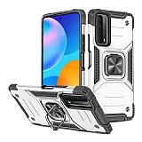 Eiroo Kickstand Huawei P Smart 2021 Ultra Koruma Silver Kılıf