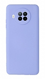 Xiaomi Redmi Note 9 Pro 5G Kamera Korumalı Lila Silikon Kılıf