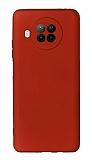 Xiaomi Redmi Note 9 Pro 5G Kamera Korumalı Bordo Silikon Kılıf