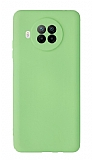 Xiaomi Redmi Note 9 Pro 5G Kamera Korumalı Yeşil Silikon Kılıf