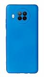 Xiaomi Redmi Note 9 Pro 5G Kamera Korumalı Mavi Silikon Kılıf
