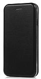 Huawei P Smart Curve Manyetik Kapaklı Siyah Deri Kılıf