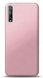 Huawei P Smart S Mat Rose Gold Silikon Kılıf