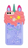Huawei P Smart Sulu Simli Unicorn Mavi Silikon Kılıf