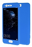 Huawei P10 360 Derece Koruma Likit Mavi Silikon Kılıf
