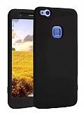 Huawei P10 Lite 360 Derece Koruma Likit Siyah Silikon Kılıf