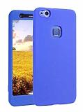 Huawei P10 Lite 360 Derece Koruma Likit Mavi Silikon Kılıf