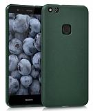 Huawei P10 Lite Mat Yeşil Silikon Kılıf