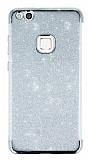 Huawei P10 Lite Simli Silver Silikon Kılıf
