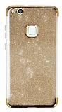 Huawei P10 Lite Simli Gold Silikon Kılıf