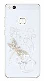 Huawei P10 Lite Taşlı Yusufçuk Şeffaf Silikon Kılıf