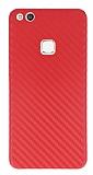 Huawei P10 Lite Ultra İnce Karbon Kırmızı Kılıf