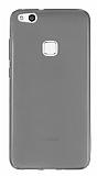 Huawei P10 Lite Ultra İnce Şeffaf Siyah Silikon Kılıf