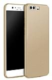 Huawei P10 Mat Gold Silikon Kılıf
