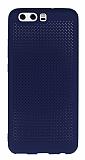 Huawei P10 Noktalı Mat Lacivert Silikon Kılıf