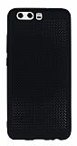 Huawei P10 Plus Noktalı Mat Siyah Silikon Kılıf