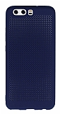 Huawei P10 Plus Noktalı Mat Lacivert Silikon Kılıf