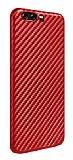 Huawei P10 Plus Ultra İnce Karbon Kırmızı Kılıf