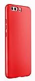 Huawei P10 Tam Kenar Koruma Kırmızı Rubber Kılıf
