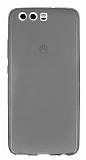 Huawei P10 Ultra İnce Şeffaf Siyah Silikon Kılıf