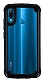 Huawei P20 Lite Jelly Bumper Şeffaf Ultra Koruma Siyah Kılıf