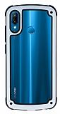 Huawei P20 Lite Jelly Bumper Şeffaf Ultra Koruma Beyaz Kılıf