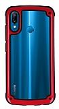 Huawei P20 Lite Jelly Bumper Şeffaf Ultra Koruma Kırmızı Kılıf