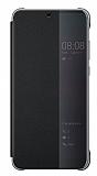 Huawei P20 Lite Orjinal Flip Cover Siyah Kılıf