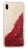 Huawei P20 Lite Simli Sulu Kırmızı Rubber Kılıf