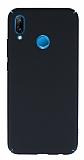 Huawei P20 Lite Tam Kenar Koruma Siyah Rubber Kılıf
