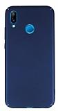 Huawei P20 Lite Tam Kenar Koruma Lacivert Rubber Kılıf