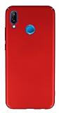 Huawei P20 Lite Tam Kenar Koruma Kırmızı Rubber Kılıf