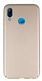 Huawei P20 Lite Tam Kenar Koruma Gold Rubber Kılıf