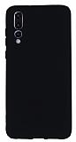Huawei P20 Pro Mat Siyah Silikon Kılıf