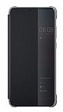 Huawei P20 Pro Orjinal Uyku Modlu Flip Cover Siyah Kılıf