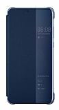 Huawei P20 Pro Orjinal Uyku Modlu Flip Cover Lacivert Kılıf