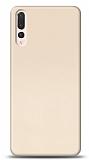 Huawei P20 Pro Tam Kenar Koruma Gold Rubber Kılıf
