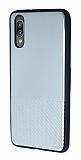 Huawei P20 Silikon Kenarlı Aynalı Metal Silver Kılıf