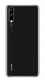 Huawei P20 Ultra İnce Şeffaf Silikon Kılıf