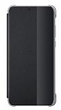 Huawei P20 Uyku Modlu İnce Yan Kapaklı Siyah Kılıf
