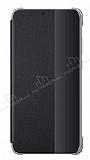 Huawei P20 Lite Uyku Modlu İnce Yan Kapaklı Siyah Kılıf
